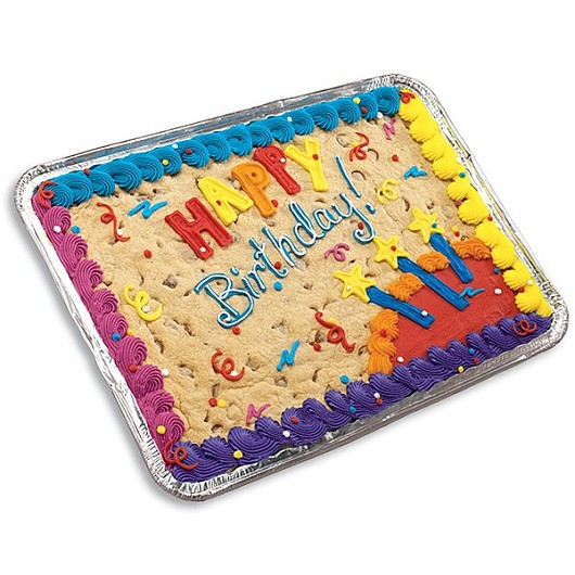 Birthday Sheet Cookie Giant Chocolate Chip Cookie