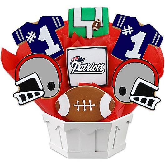 NFL New England Patriots Cookie Bouquet | Cookies by Design