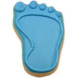 CFG7 - Baby Boy Footprint Cookie Favors
