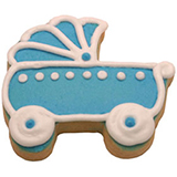 CFG6 - Baby Boy Carriage Cookie Favors