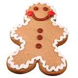 CFC2 - Christmas Gingerbread Man Cookie Favors