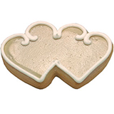 CFG15 - Wedding Double Heart Cookie Favors
