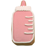 CFG9 - Baby Girl Bottle Cookie Favors