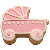 CFG10 - Baby Girl Carriage Cookie Favors