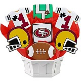 NFL1-SF - Football Bouquet - San Francisco