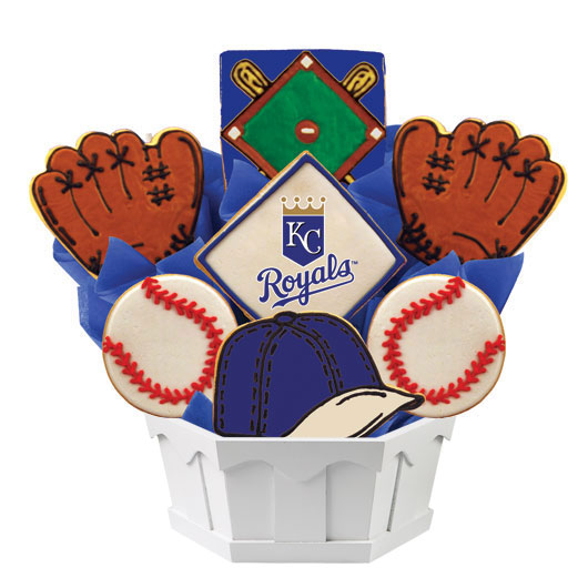 Birthday Gift Baskets In San Diego : Mlb kansas city royals cookie bouquet cookies by design