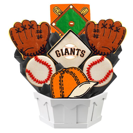 Mlb San Francisco Giants Cookie Bouquet Cookies By Design