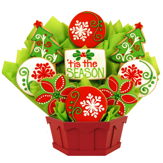 Gift For Christmas Holiday Bouquet Cookies By Design