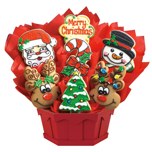Christmas sugar cookies bouquets by