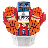 NBA1-LAC - Pro Basketball Bouquet - LA LAC