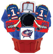 NHL1-CBJ - Hockey Bouquet - Columbus Blue