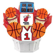 NBA1-MIA - Pro Basketball Bouquet - Miami