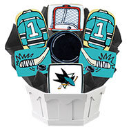 NHL1-SJS - Hockey Bouquet - San Jose