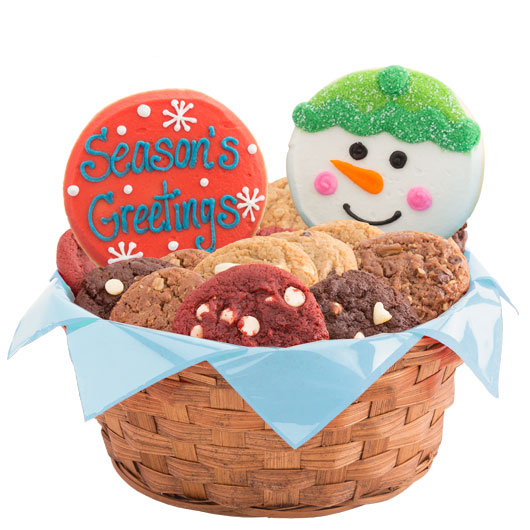 Christmas cookie basket holiday gift cookies by