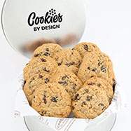 TIN12-OAT - Tin of One Dozen Oatmeal Raisin Gourmet Cookies
