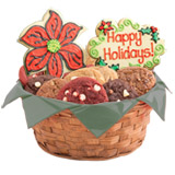 W402 - Holiday Floral Basket