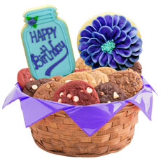 W477 - Happy Birthday Flowers Basket