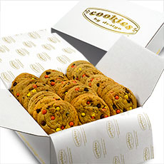 BX9-PBC - Box of Two Dozen Gourmet Peanut Butter Pieces and Chocolate Chip Cookies
