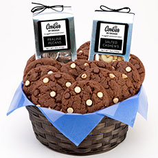 AG27-WCC - Decadent Chocolate Gourmet Combo Basket - Two Dozen