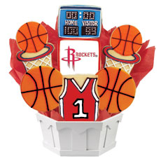 NBA1-HOU - Pro Basketball Bouquet - Houston