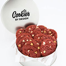 TIN12-RV - Tin of One Dozen Red Velvet Gourmet Cookies