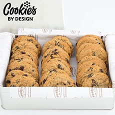 TIN24-OAT - Tin of Two Dozen Oatmeal Raisin Gourmet Cookies