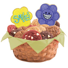 W399 - Wacky Face Daisies Basket