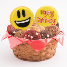 W450 - Sweet Emojis Basket-Birthday