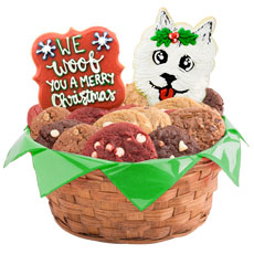 W496 - Christmas Puppies Basket