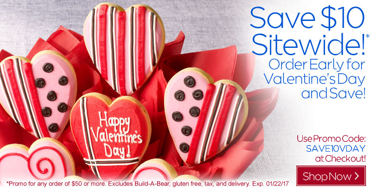 Save $10 On ANY Valentine's Day Gift