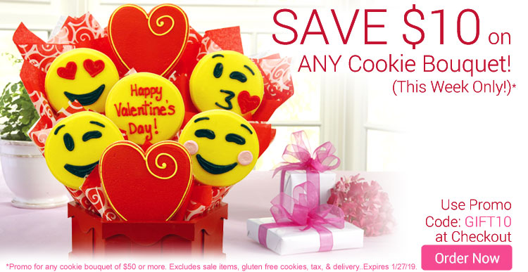 $10 Off Any Cookie Bouquet!