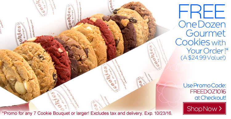 Free Dozen Gourmet Cookies This Week Only!