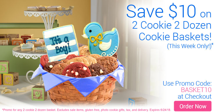 Save $10 On ALL Cookie Baskets!