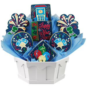 NEW YEAR'S DAY COOKIE GIFT BASKETS