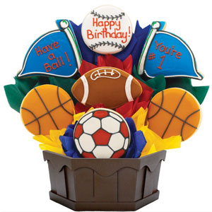 SPORTS COOKIE GIFT BASKETS