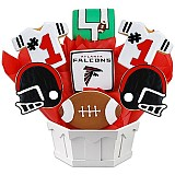 NFL1-ATL - Football Bouquet - Atlanta