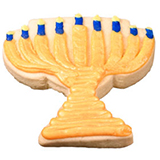 CFC6 - Hanukkah Menorah Cookie Favors