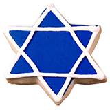 CFC7 - Hanukkah Star of David Cookie Favors