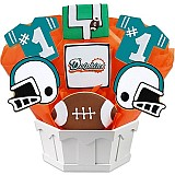 NFL1-MIA - Football Bouquet - Miami