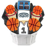 NBA1-SAS - Pro Basketball Bouquet - San Antonio