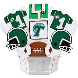 NCAA1-TUL - NCAA Cookie Bouquet - Tulane University