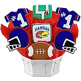 NCAA1-UKAN - NCAA Cookie Bouquet - University of Kansas