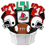 NCAA1-ULOU - NCAA Cookie Bouquet - University of Louisville