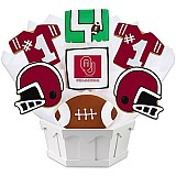 NCAA1-UOKLA - NCAA Cookie Bouquet - University of Oklahoma