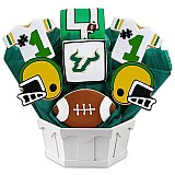 NCAA1-USFL - NCAA Cookie Bouquet - University of South Florida