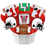 NCAA1-UWIS - NCAA Cookie Bouquet - University of Wisconsin
