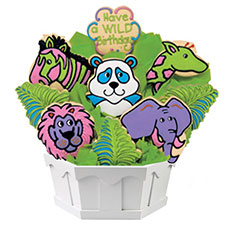 Cookie Bouquet Wild Zoo Birthday