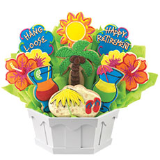 Sunny Retirement Wishes Cookie Bouquet | Cookies by Design