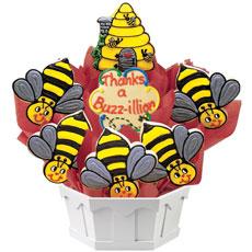 Thanks A Buzz-illion Cookie Bouquet | Cookies by Design
