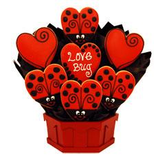 Love Cookie Bouquet   Ladybug Cookies